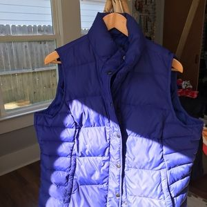 Lands' End Jackets & Coats - Fitted Land's End Down Vest  Large with Pockets